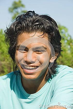 Happy jogger portrait