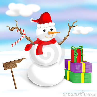 Free Happy, Jolly Snowman Royalty Free Stock Image - 154836