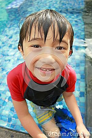 Happy joyful little boy