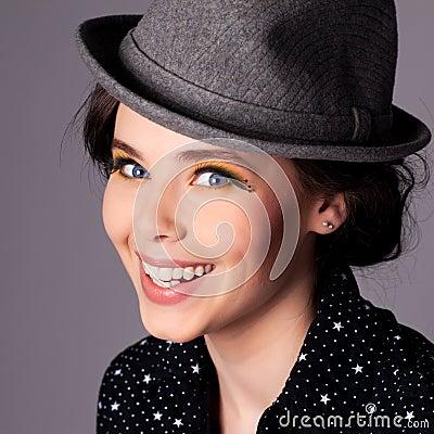 Happy Joyful Young Woman Portrait