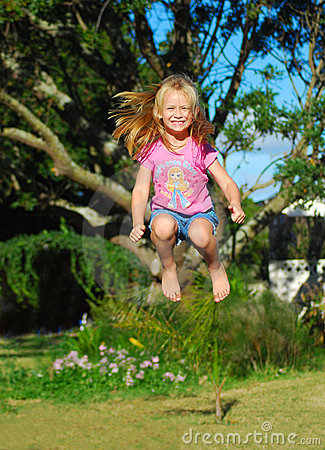 Free Happy Jumping Child Royalty Free Stock Image - 22126206