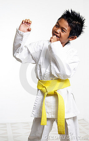Free Happy Karate Kid Stock Image - 187581