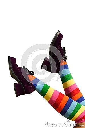 Free Happy Kicking Feet Royalty Free Stock Image - 1093366