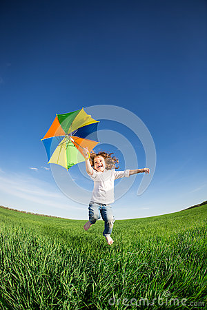 Free Happy Kid Jumping Royalty Free Stock Images - 31165909