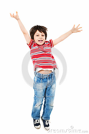 Free Happy Kid Jumping Royalty Free Stock Images - 31884119
