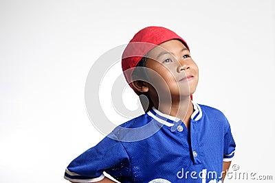 Happy Kid looking up