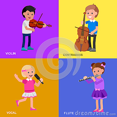 Free Happy Kid Playing On Contrabass, Singing Dancing Ballet. Royalty Free Stock Photo - 72539805