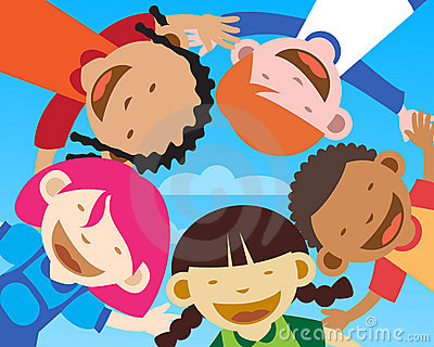 Happy kids - closeup