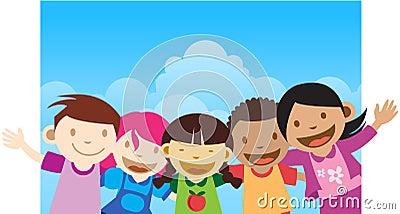 Happy kids Greeting