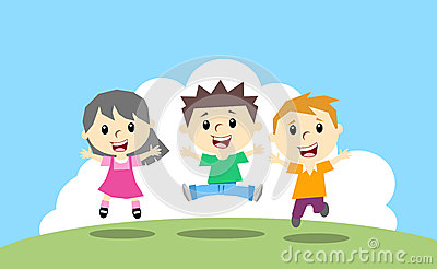 Happy kids Vector Illustration