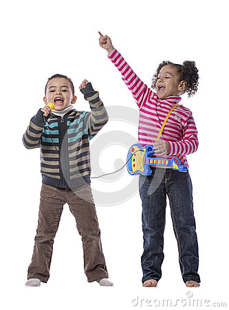 Free Happy Kids Music Royalty Free Stock Images - 29701949