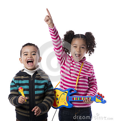 Free Happy Kids Music Band Royalty Free Stock Photo - 28896765