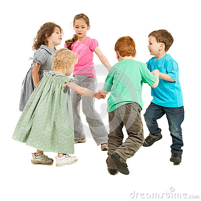 Free Happy Kids Playing Circle Game Stock Photography - 27283282