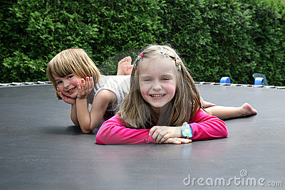 Happy kids playing together outdoor.