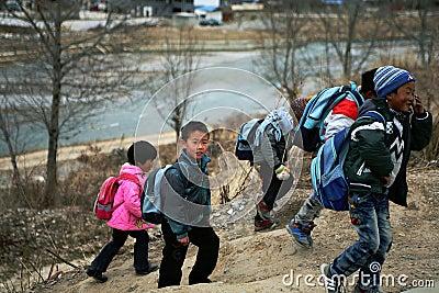 Happy kids Editorial Stock Photo