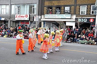 Happy kids in the Santa Parade Editorial Photo