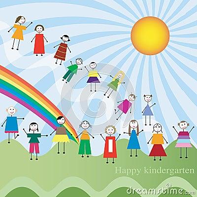 Happy kindergarten