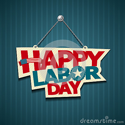 Happy Labor day american signs