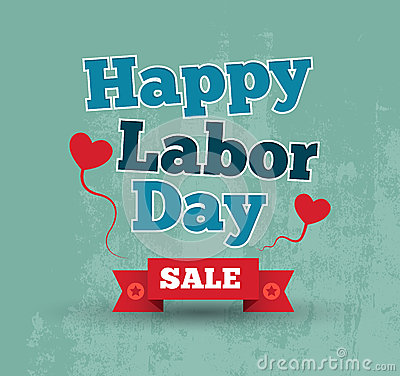 Happy Labor Day Poster Stock Vector - Image: 41550167