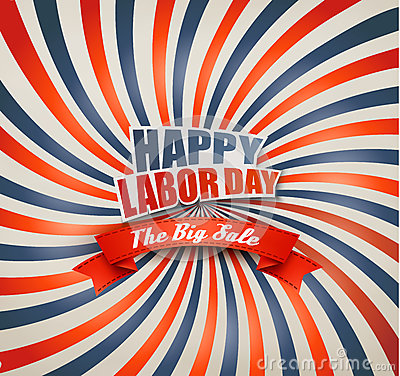 Free Happy Labor Day Sale Retro Background. Stock Images - 76261784