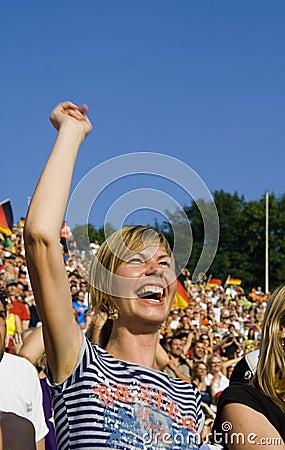 Free Happy Lady Fan Stock Photo - 928480