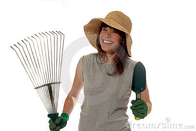 Happy lady gardener