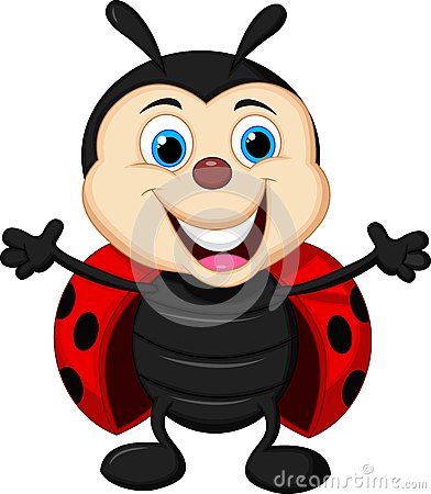 Free Happy Ladybug Cartoon Royalty Free Stock Image - 34605876