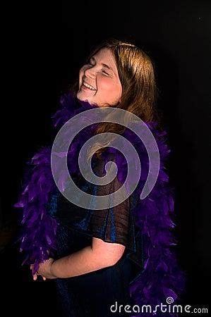 Happy laugh woman