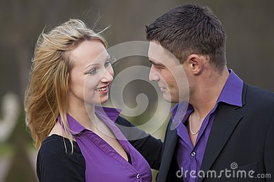 Happy and laughing couple