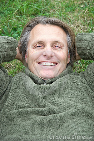 Happy laughing man.