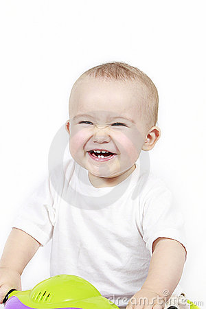 Happy laughing toddler