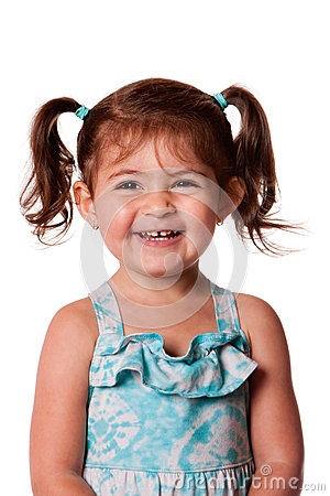 Free Happy Laughing Young Toddler Girl Stock Photos - 25339633