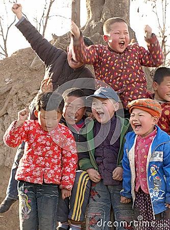 Happy laughter children
