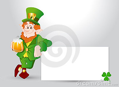 Happy Leprechaun Banner