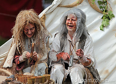 Happy leprous women Editorial Stock Photo