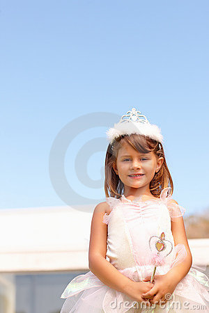Happy Little Girl Dressed Up As A Fairy, Outdoors Royalty Free Stock Photo - Image: 9813595