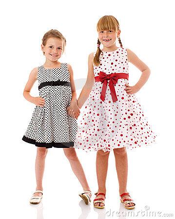 Happy little sisters