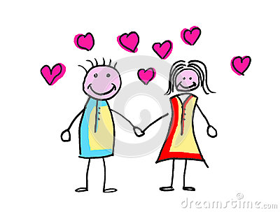 Happy lovers