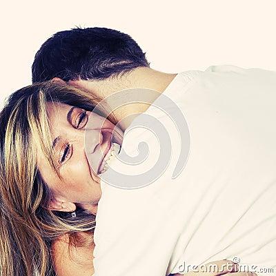 Happy Loving Couple Embracing