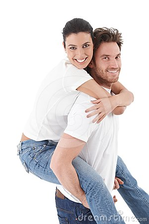 Happy loving couple smiling