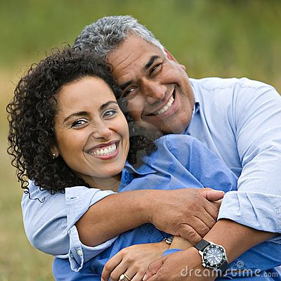 Happy Loving Hispanic Couple