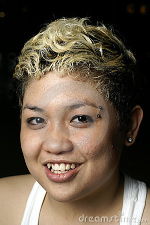 Happy malay punk lady