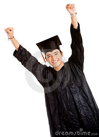 Happy male graduate
