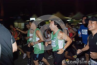Happy Marathon Runner Editorial Stock Photo