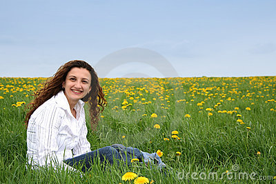 Happy in the meadow V