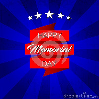 Free Happy Memorial Day! Vector Illustration On Blue Background Royalty Free Stock Photos - 116032868