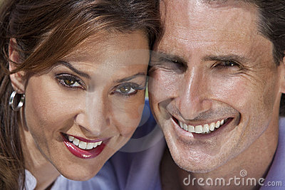 Happy Middle Aged Man and Woman Couple Portrait