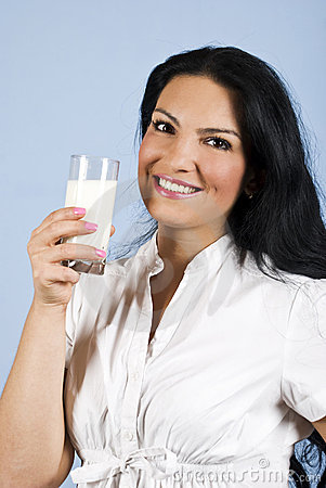 Happy milk woman