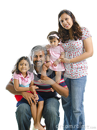 Happy modern Indian family