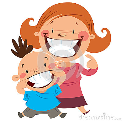 Free Happy Mom And Son Smiling Showing Their Teeth Stock Photo - 30279520